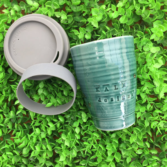 Handcrafted reusable coffee cups