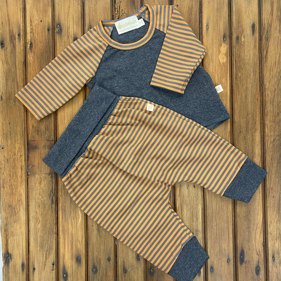 Jinni and Milan bubs Combo Mustard/grey