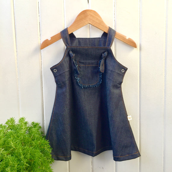 Evie knot front denim dress