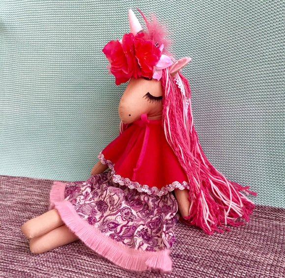 Handmade Unicorn Doll Mya