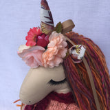 Handmade Heirloom Unicorn Doll Maisy