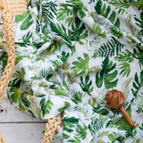 Organic Cotton/Bamboo fiber Extra Large Swaddles - Tropical Leaves