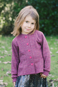 Katelyn Girls Merino Wool Cardigan - Pink Goodness