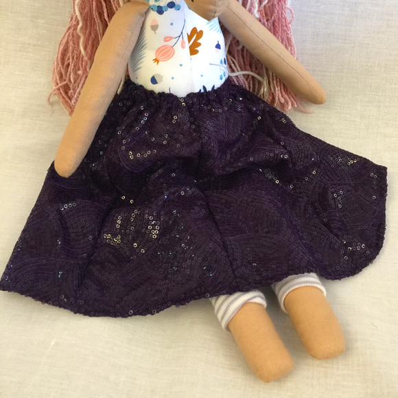 Long Skirt Unicorn - Purple Sparkle