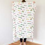 Organic Cotton/Bamboo fiber Extra Large Swaddles - Solar System