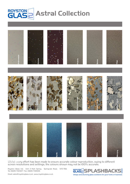 Splashback Colour Spotlight - New Royston Glass Astral Collection