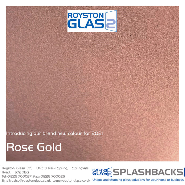 Introducing Rose Gold from Royston Glass