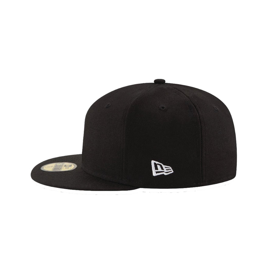 New Era 59FIFTY Blank Umpire Hat Black - Bases