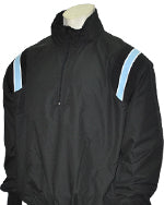 Umpire Jacket - LS Pullover - Black w/ White/Powder Blue Insert