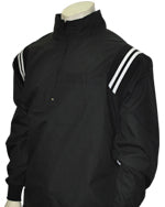 Umpire Jacket LS Pullover - Black w/ White Shoulder