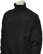 Major League Style Lightweight Convertible Sleeve Jacket - Black