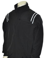 Major League Style Thermal Fleece Jacket - Black w/ White/Black Trim