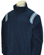 Major League Style Thermal Fleece Jacket - Navy w/ White/Navy Powder Blue Trim