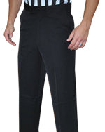 Men's Poly Spandex Flat Front Pants w/ Slash Pockets