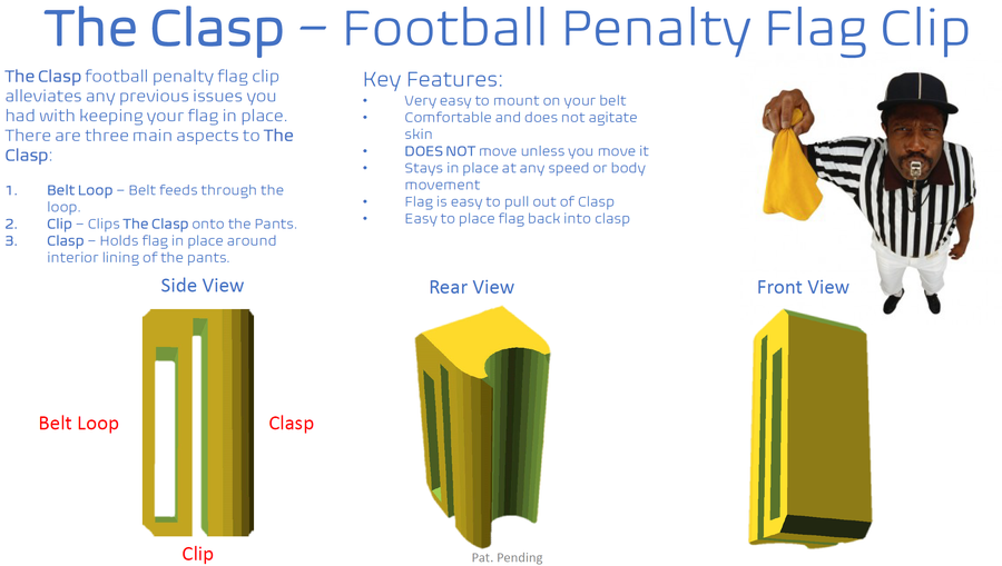 The Clasp Penalty Flag Clip