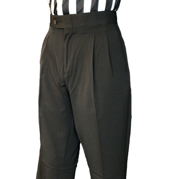 Women's Poly Spandex Stretch Pleated Pants w/Slash Pockets (Some Sizes are Pre-Order Only)