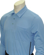 Baseball Umpire Long Sleeve Shirt - Piping Style - Carolina Blue