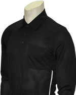 Baseball Umpire Long Sleeve Shirt - Piping Style - Black