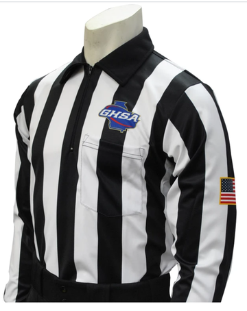 Georgia (GHSA) Long Sleeve Football Referee Shirt
