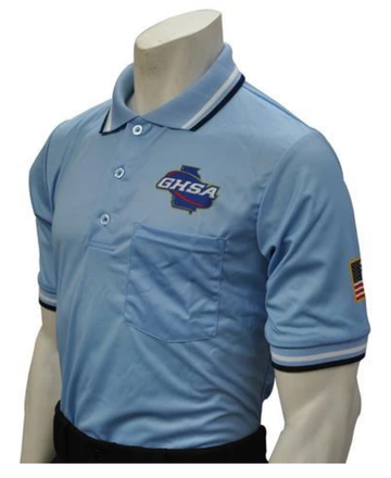 Georgia (GHSA) Short Sleeve Umpire Shirt - Powder Blue