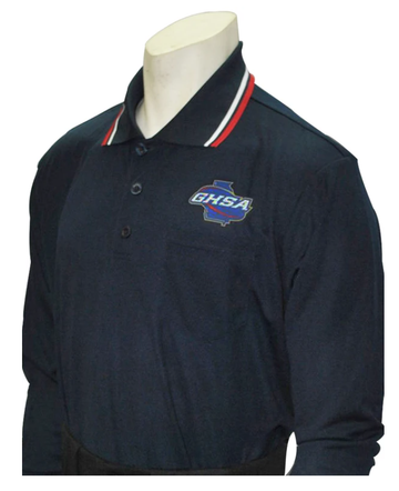Georgia (GHSA) Long Sleeve Umpire Shirt - Navy