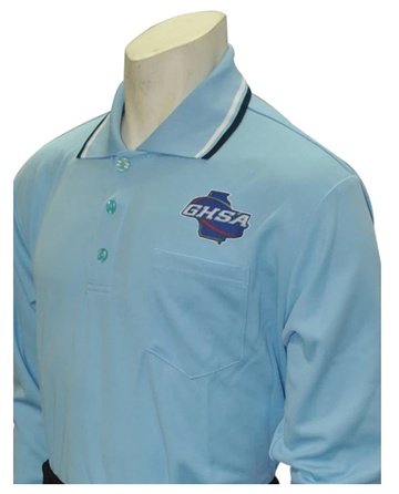 Georgia (GHSA) Long Sleeve Umpire Shirt - Powder Blue