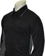 Major League Style Umpire Shirt LS - Black