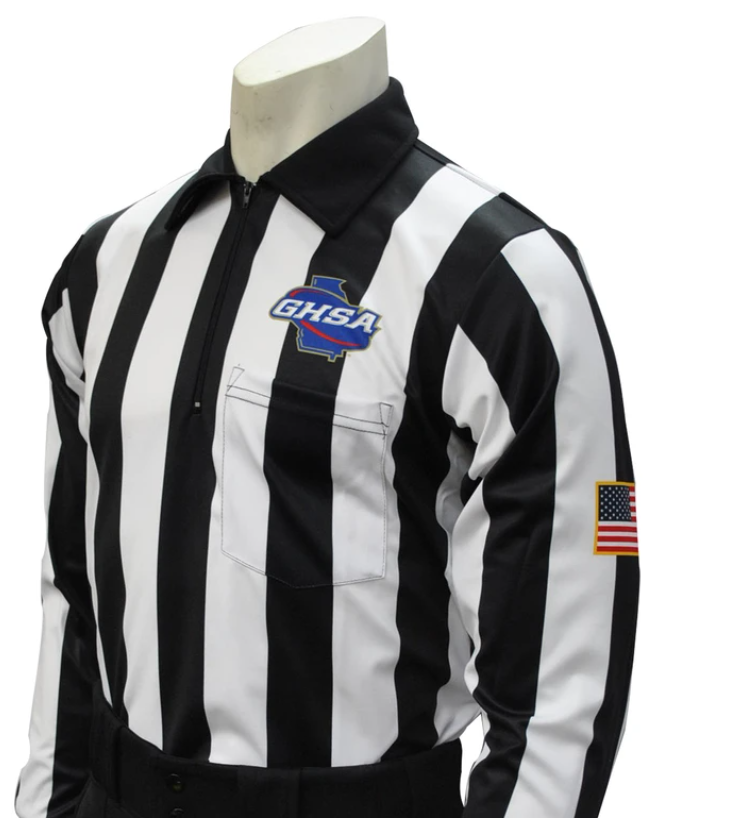 Georgia (GHSA) Long Sleeve Cold Weather Football Referee Shirt