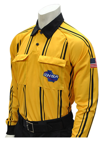 Georgia (GHSA) Long Sleeve Soccer Shirt - Gold