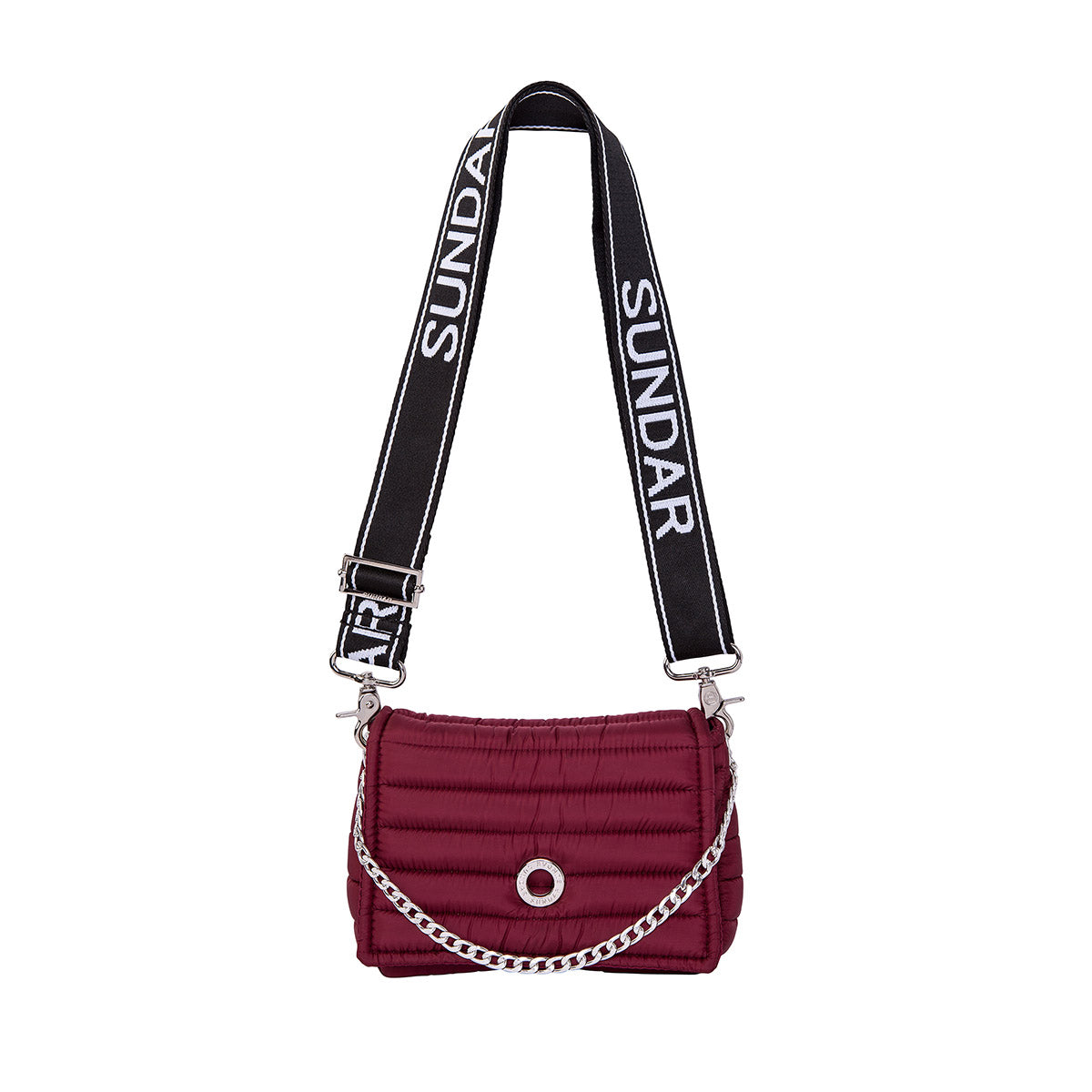 Andrea Cherry with two Straps (Chain Strap/ Black and White Adjustable Strap)