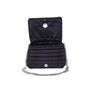 Andrea Black with two Straps (Chain Strap/ Black and White Adjustable Strap)