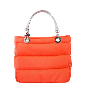 Básica Orange, Shoulder Bag with Silver Strap