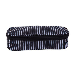 Pencil Case Lines Pattern Black / White