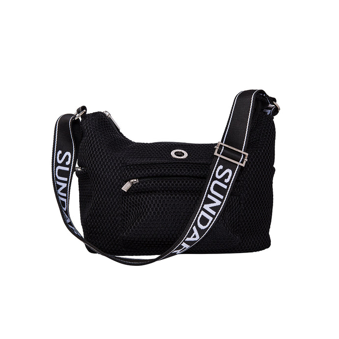 Martina Black with Black and White Adjustable Strap