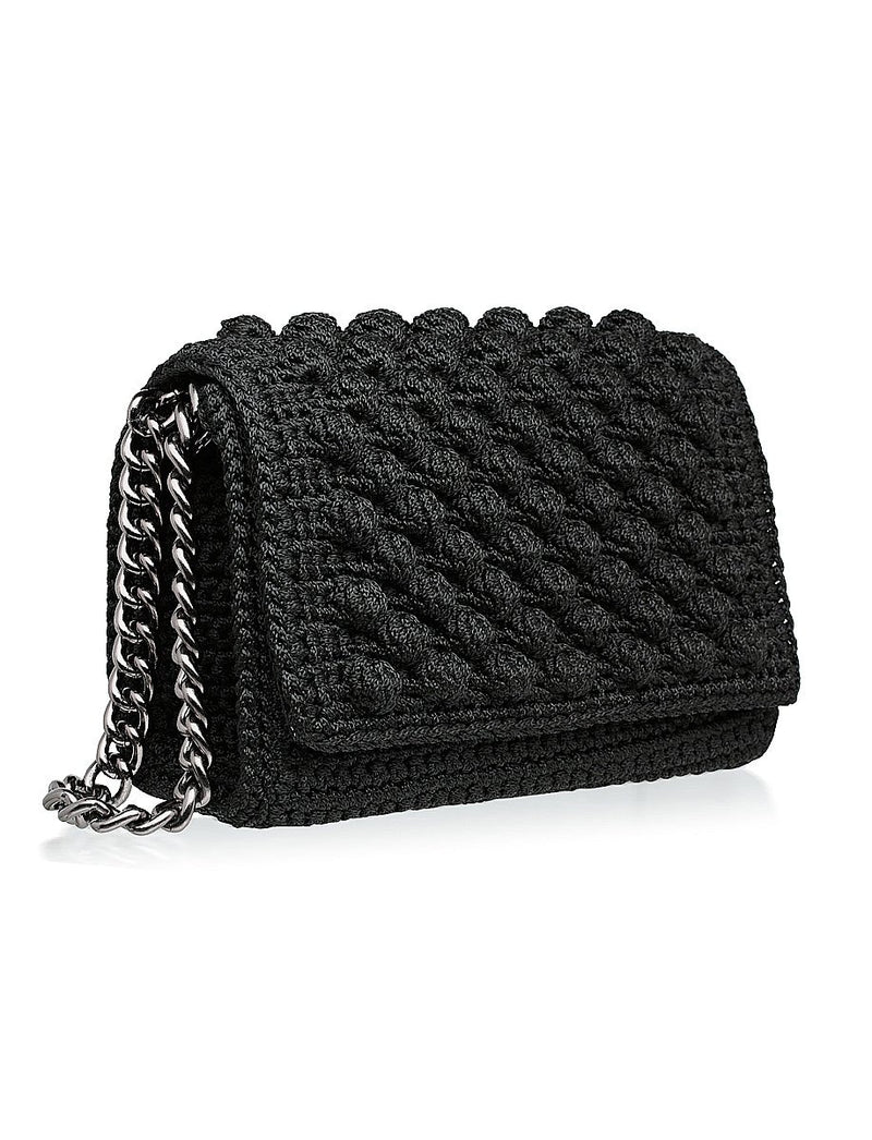 Bubbly Shoulder Bag -  Black