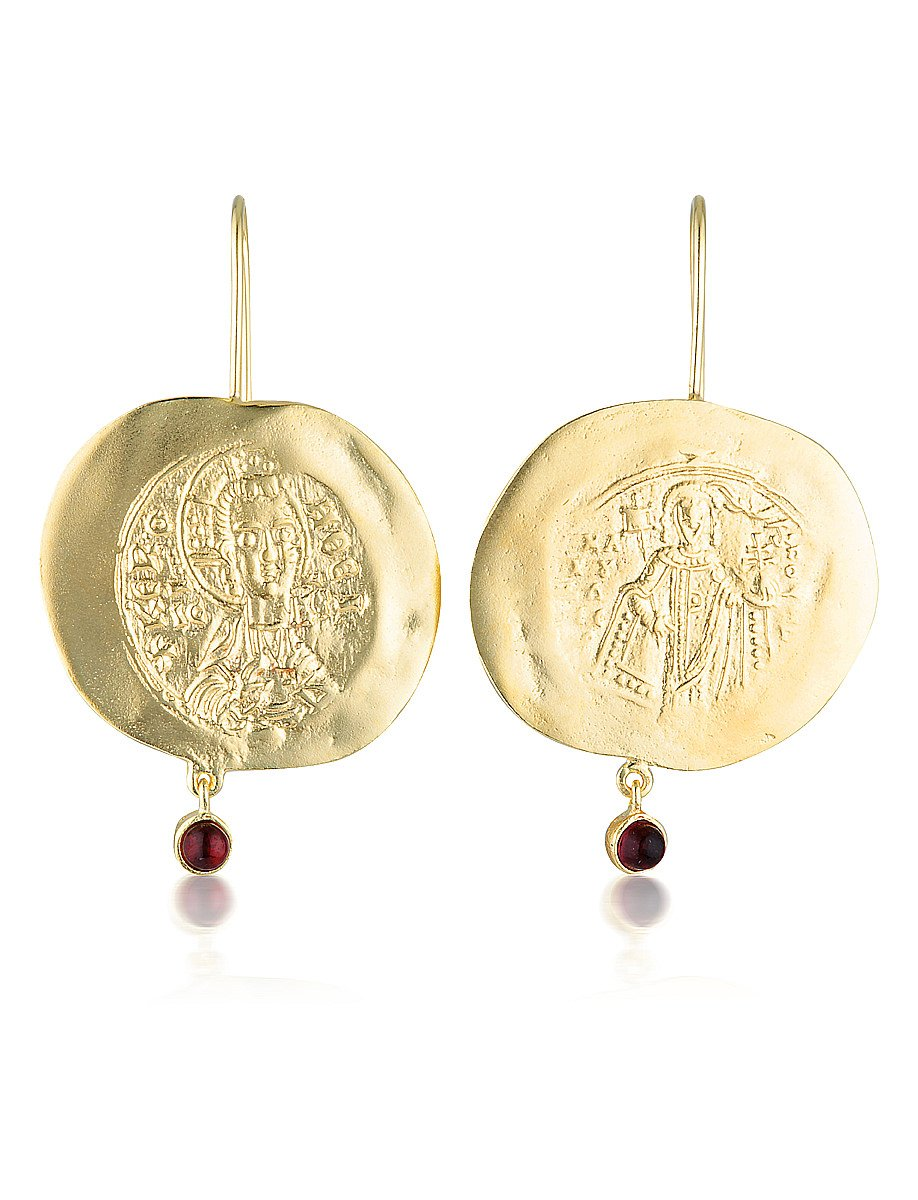 Constantinato Earrings - Garnet