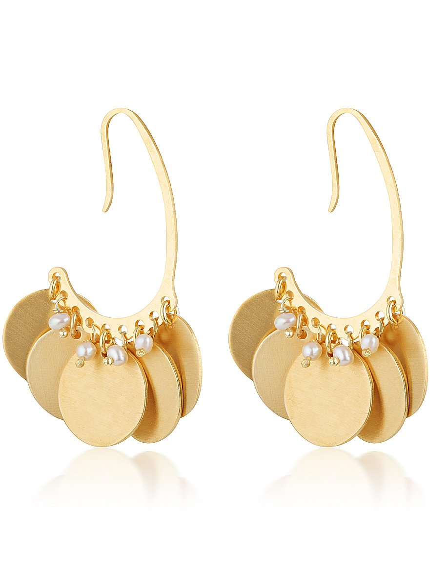 Doreta Earrings -  Pearl
