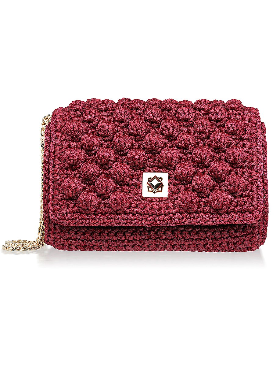Monaco Shoulder Bag - Burgundy