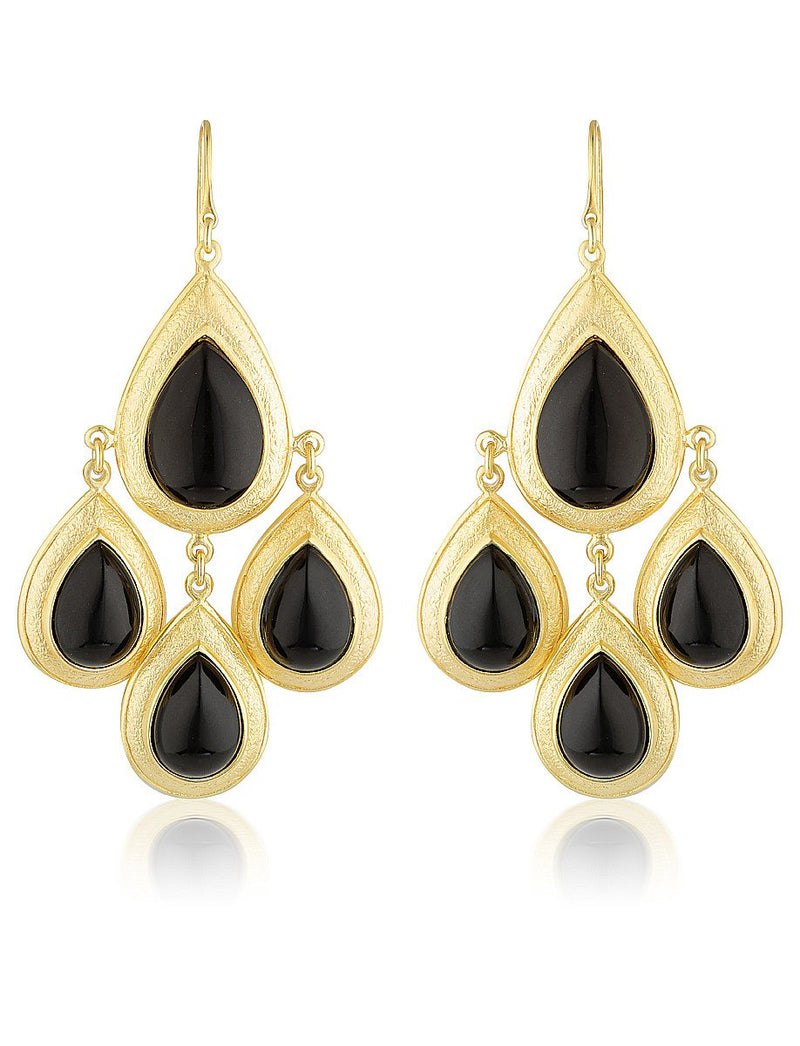Trevi Black Onyx Stone Earrings