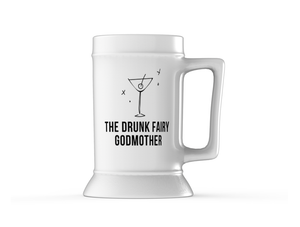 Open image in slideshow, Beer Mug - The Drunk Fairy Godmother - The Ultimate Oversized Drinking Mug