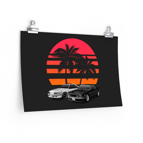 Tyler Fong | 90 Ford Mustang  '70 Ford Mustang | Poster