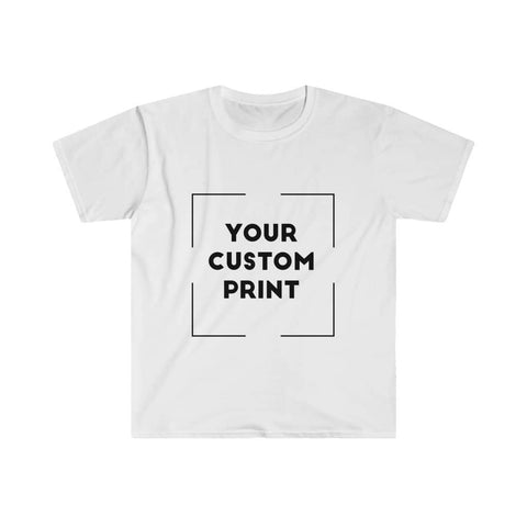 kdm custom print for men fitted white
