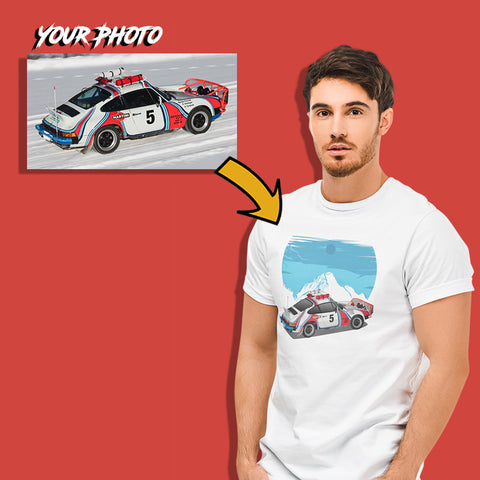 euro custom print fitted t-shirt for men
