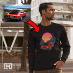 euro custom print unisex long sleeves mockup black
