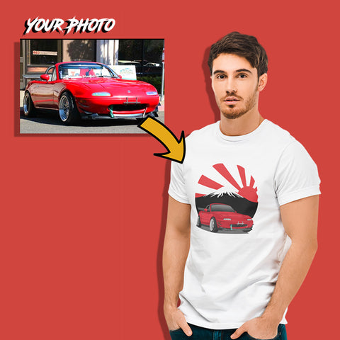 JDM custom print for men fitted t-shirt