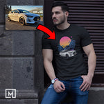 kdm custom print for men t-shirt mockup black
