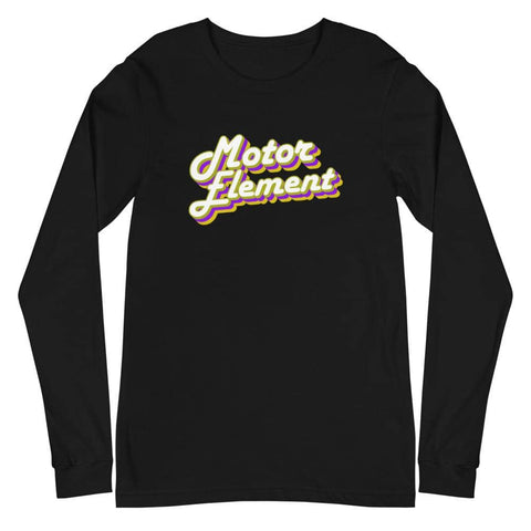Motor Element Retro Cursive Long Sleeve