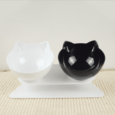 Double Bowl Cat Feeder | Cat Health