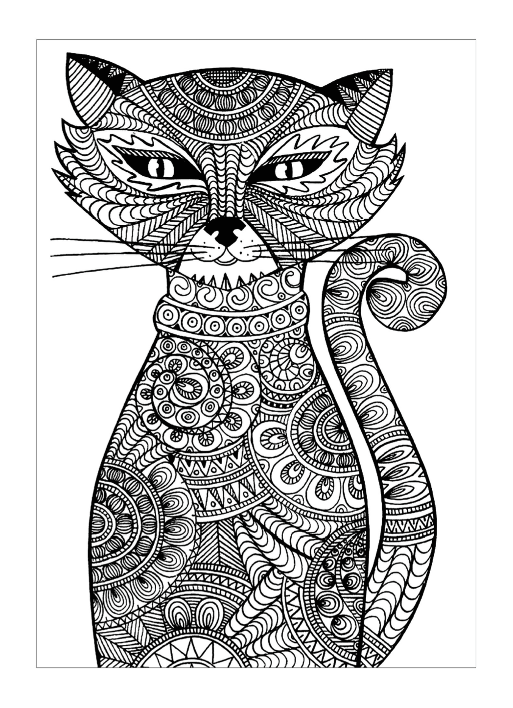 Mystic Cat Coloring Page | Free Download