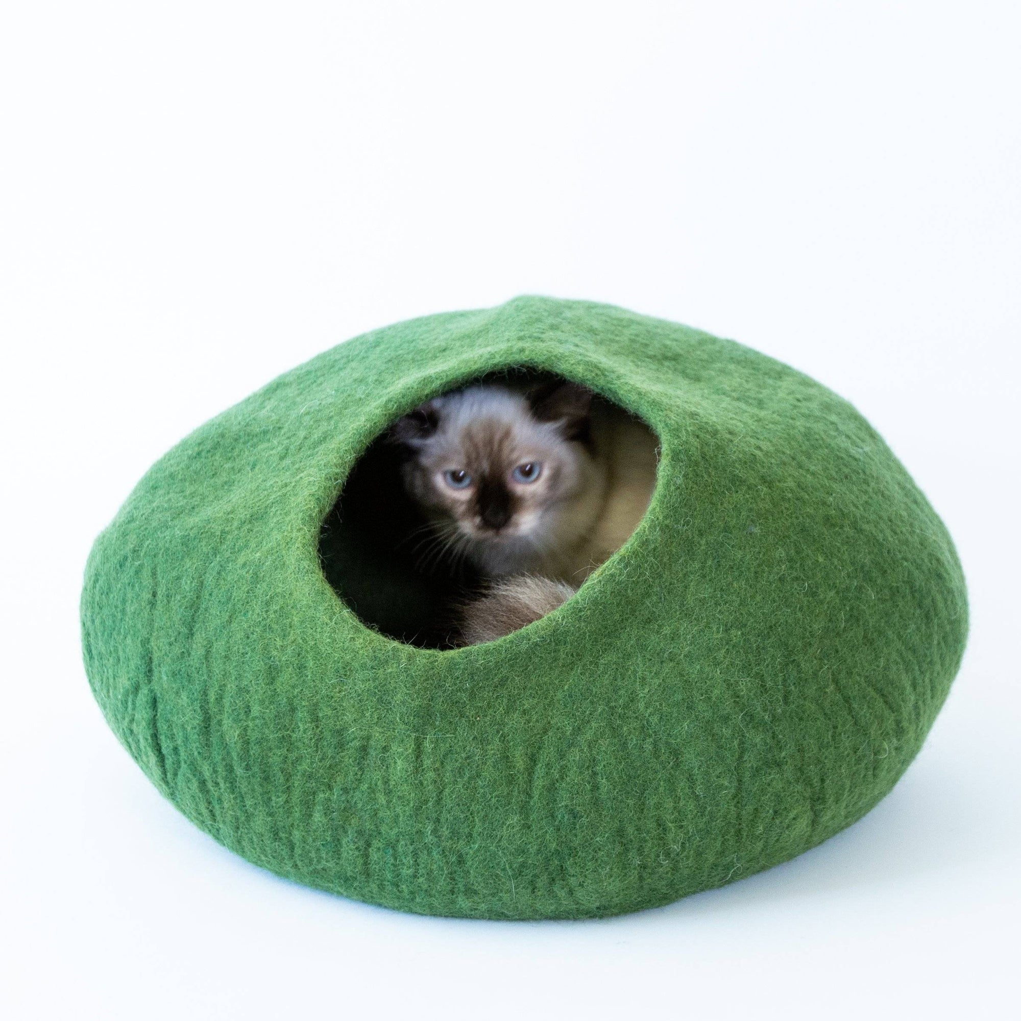 Green Cat Cave | Pet Bed